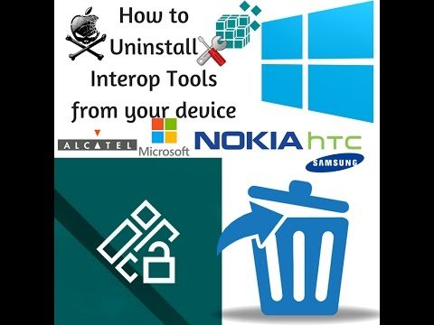 How to uninstall Interop Tools in Windows 10 Mobile