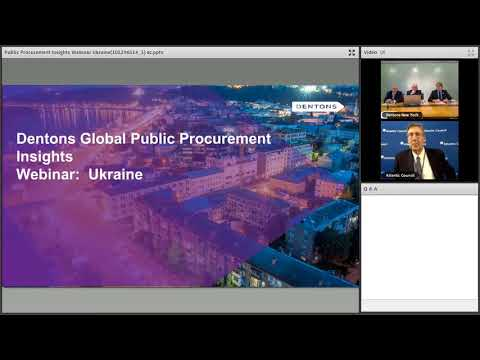 Dentons Global Public Procurement Insights Webinar  Ukraine 0 0