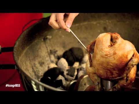 helgrillad kyckling temperatur