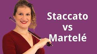 Staccato vs Martelé Violin Bow Technique