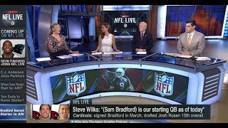 """Steve Wilks: """"Sam Bradford Is Our Starting QB as of Today"""" 