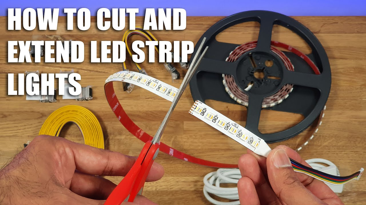 Download How to Cut LED Strip Lights and Extend EASIEST METHOD EVER!