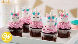 Easy Marshmallow Unicorn Cupcake Toppers | Wilton
