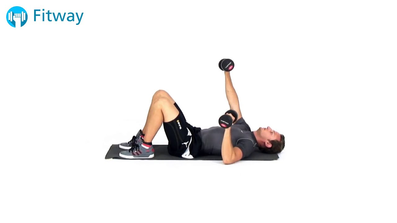 How To Do: Dumbbell Floor Press - Alternating | Chest Workout Exercise