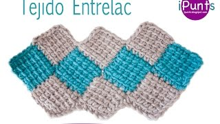 Repeat youtube video Tutorial tejido Entrelac (rombos) a crochet paso a  paso