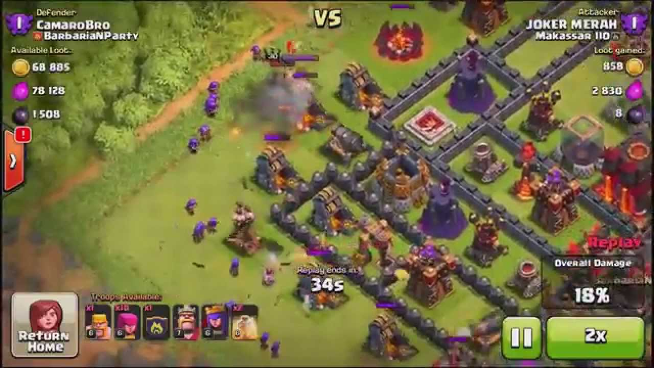 Yoyo-Clash Clans GAINING TROPHIES FAST TH Clash Troll Base