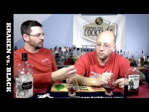 Kraken And Captain Morgan Black Spiced Rum Tasting Review
