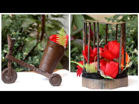 2 news paper Crafts ideas|DIY small flower vase for Table|Newspaper craft