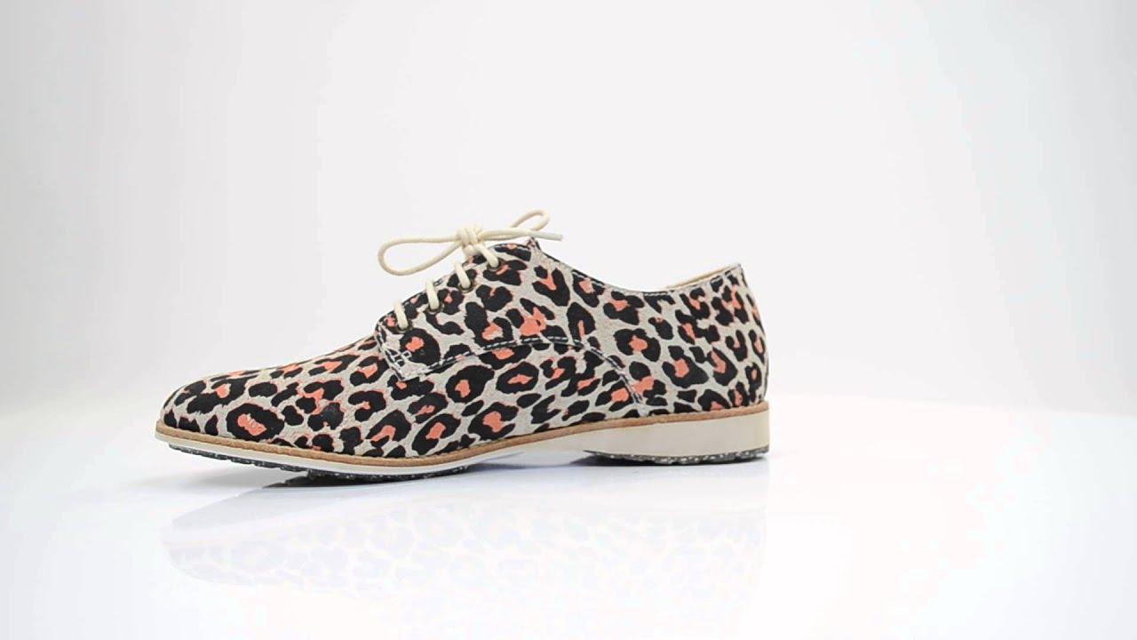 Dames Leopard Derby Youtube Schoenen Rollie H5q14SwC5