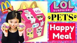LOL SURPRISE PETS HAPPY MEAL! McDonalds Drive Thru Series 3 L.O.L. Dolls Ultra Rare Gold Balls Found