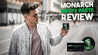 "Mens Hair | Monarch Matte Paste Official ""Review"" | BluMaan 2018"