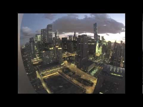 Chicago / Streeterville  - NBC Tower/Willis Tower/Trump Tower TimeLapse (GoPro)