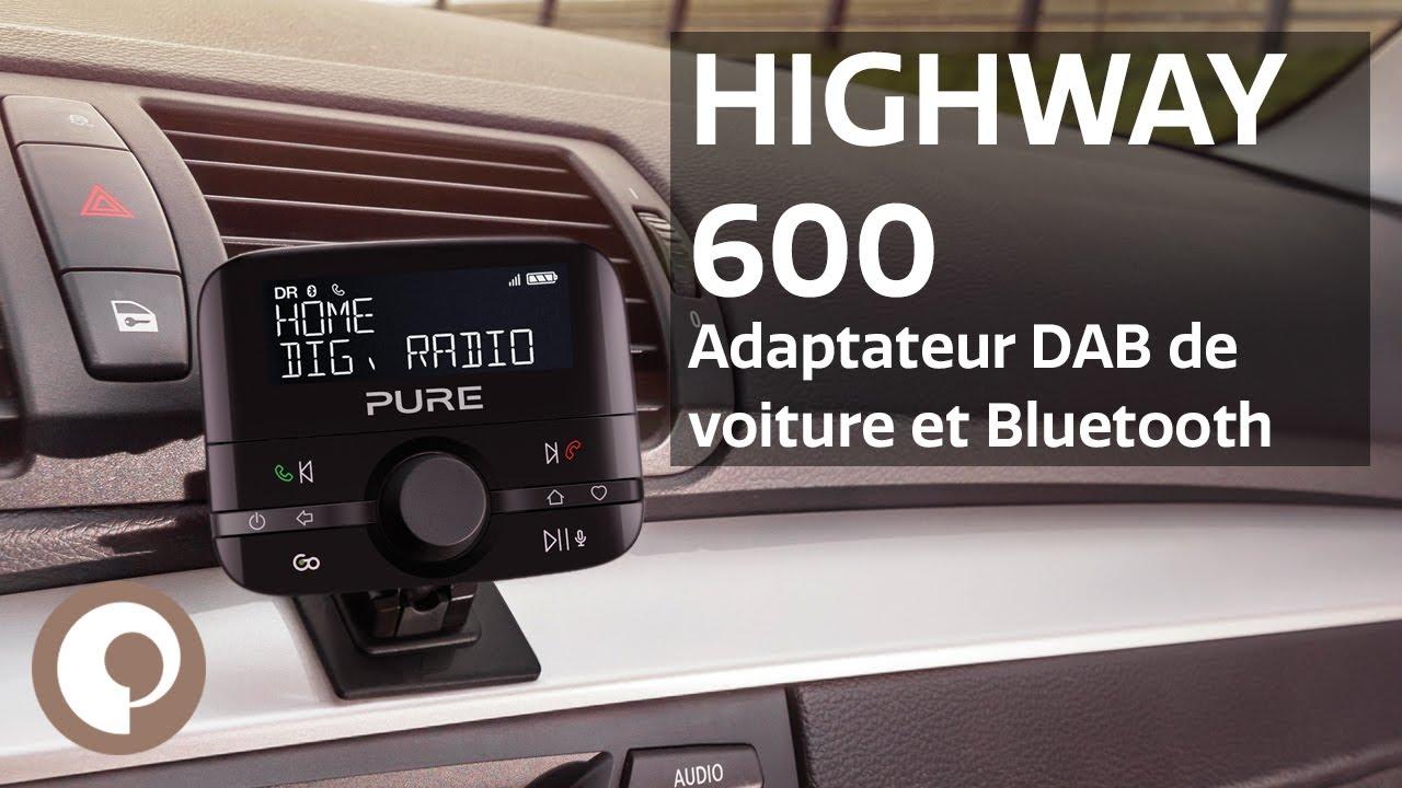 pure highway 600 adaptateur dab de voiture et bluetooth. Black Bedroom Furniture Sets. Home Design Ideas