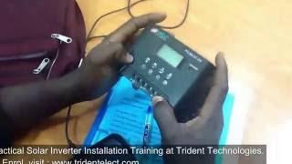 Solar Inverter Installation Training.