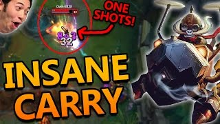 THE BOMBARDIER OF DEATH CORKI ADC (INSANE CARRY, ONE SHOTS) - League of Legends Commentary