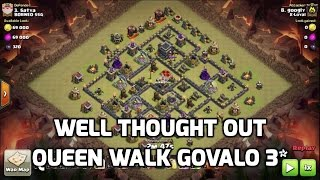 Clash of Clans - GOVALO & QUEEN WALK WELL PLANNED 3 STAR ATTACK on Max Base | Mister Clash