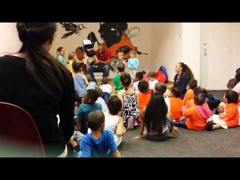 FUZZY BEARD VISITS CHILDREN AT HAMILTON FISH LIBRARY