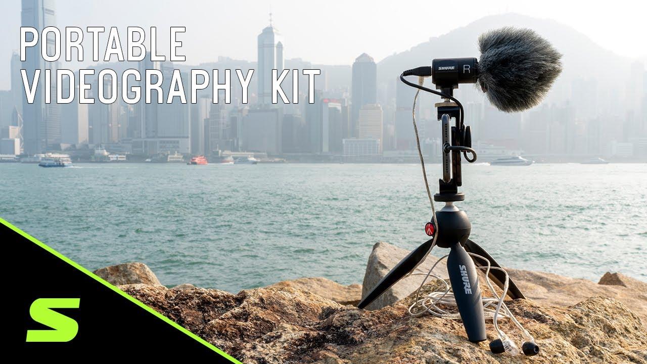 Shure Portable Videography Kit: MV88+ Video Kit + SE215 + Windjammer