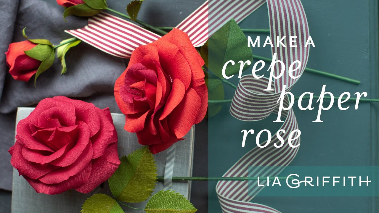 How To Make A Paper Rose With Crepe Paper