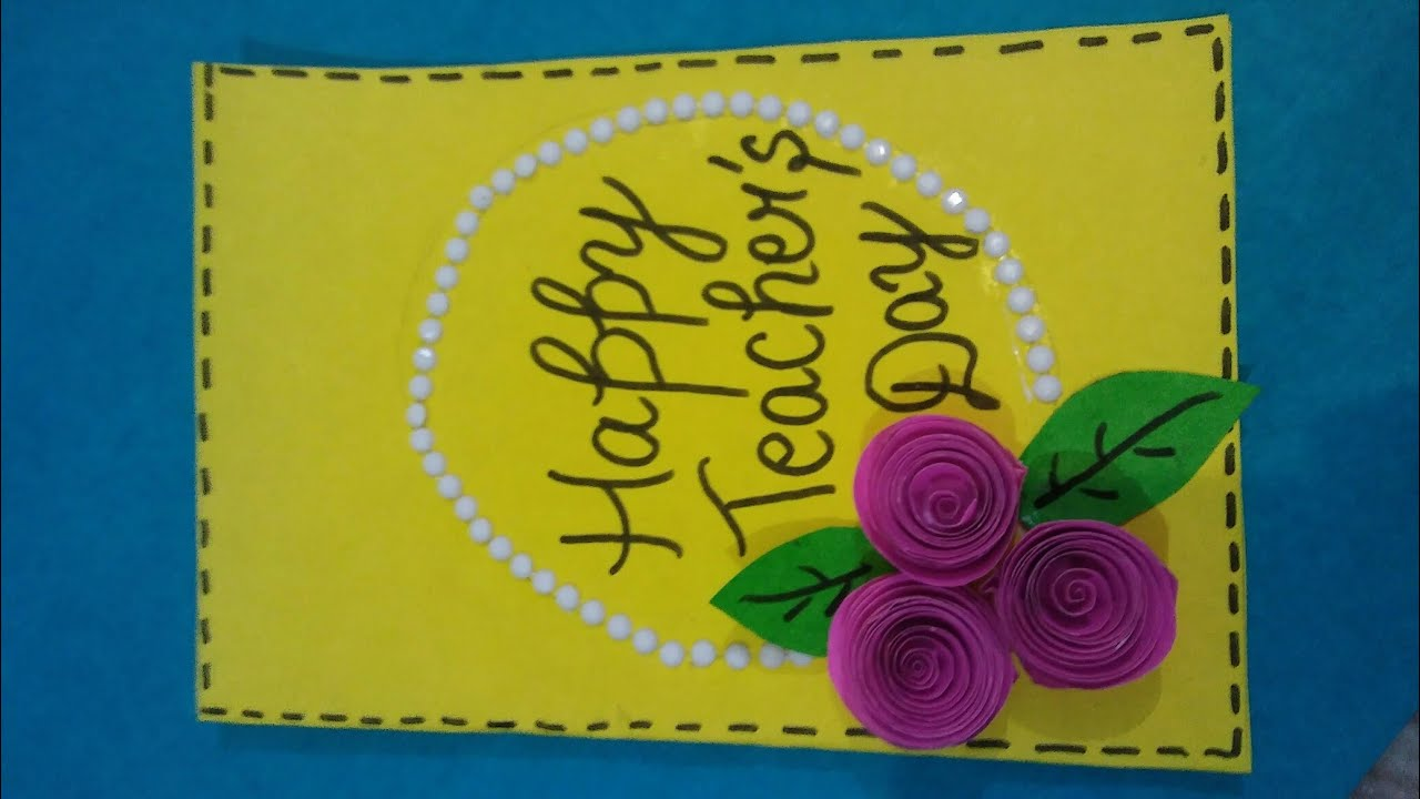 How to make greeting card for teachers day greeting card for how to make greeting card for teachers day greeting card for teachers day easy and simple kristyandbryce Image collections