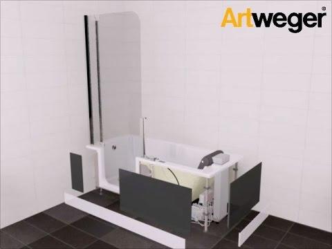 Montage / Installation Artweger ARTLIFT - Duschbadewanne mit ... | {Duschbadewanne 96}