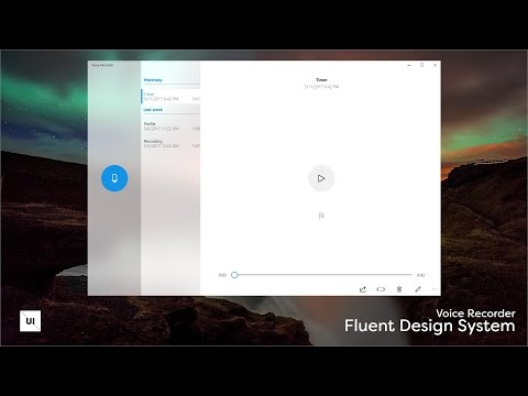 New Windows Fluent Design System Designed with Adobe Experience Design - Voice Recorder - Speedart