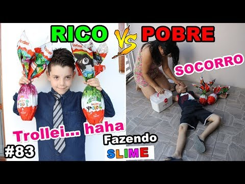 RICO VS POBRE FAZENDO AMOEBA / SLIME #83