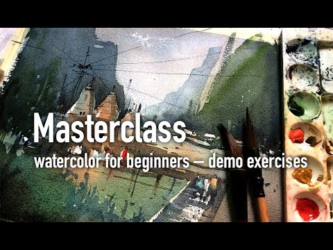 Masterclass watercolor for beginners – demo exercises