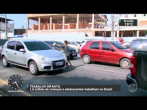 Pesquisa mostra que 1,8 milhões de crianças trabalham no Brasil | SBT Brasil (29/11/17)