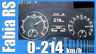 2013 Skoda Fabia RS Combi 0-214 km/h DSG NICE! Acceleration