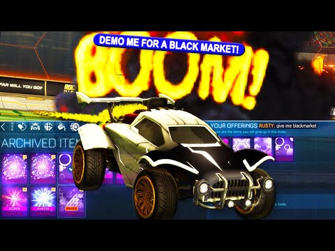 """I Changed My Name To """"DEMO ME FOR A BLACK MARKET"""" In Ranked Rocket League..."""