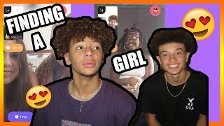 TRYING TO FIND A GF W/ MY TWIN (GONE RIGHT) 😍 ! MONKEY APP!🐵