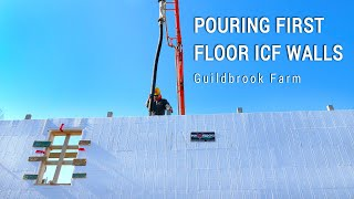 ICF Mountain Homestead: Pouring the First Floor Concrete Forms