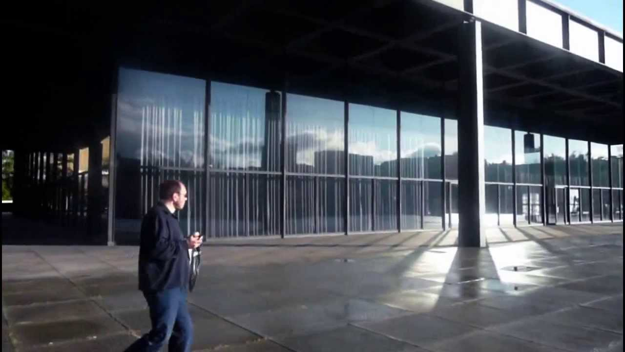 b neue nationalgalerie museum of modern art berlin youtube. Black Bedroom Furniture Sets. Home Design Ideas