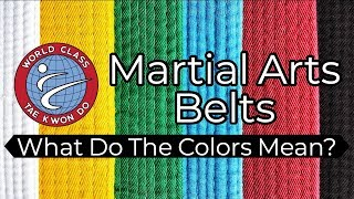 The Meaning of tнe TKD Belt Colors