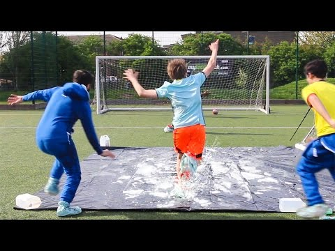 Thumbnail: SLIP 'N' SLIDE FOOTBALL CHALLENGE