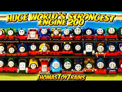 ⭐ HUGE WORLD'S STRONGEST ENGINE ep 200 96 ENGINES! Thomas and Friends! ⭐