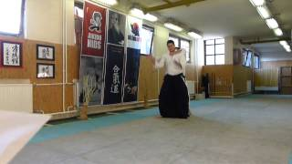 ushiro katate kubijime koshinage [AIKIDO]  basic technique