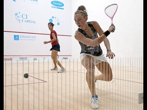 Squash: Serme v Chinappa (Rain Affected) - PSA Women's World Championship QF