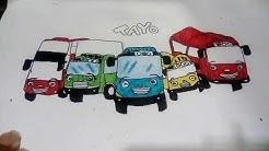 Cara Menggambar Mainan Mobil Mobilan Anak Dari Kata Tayo How To