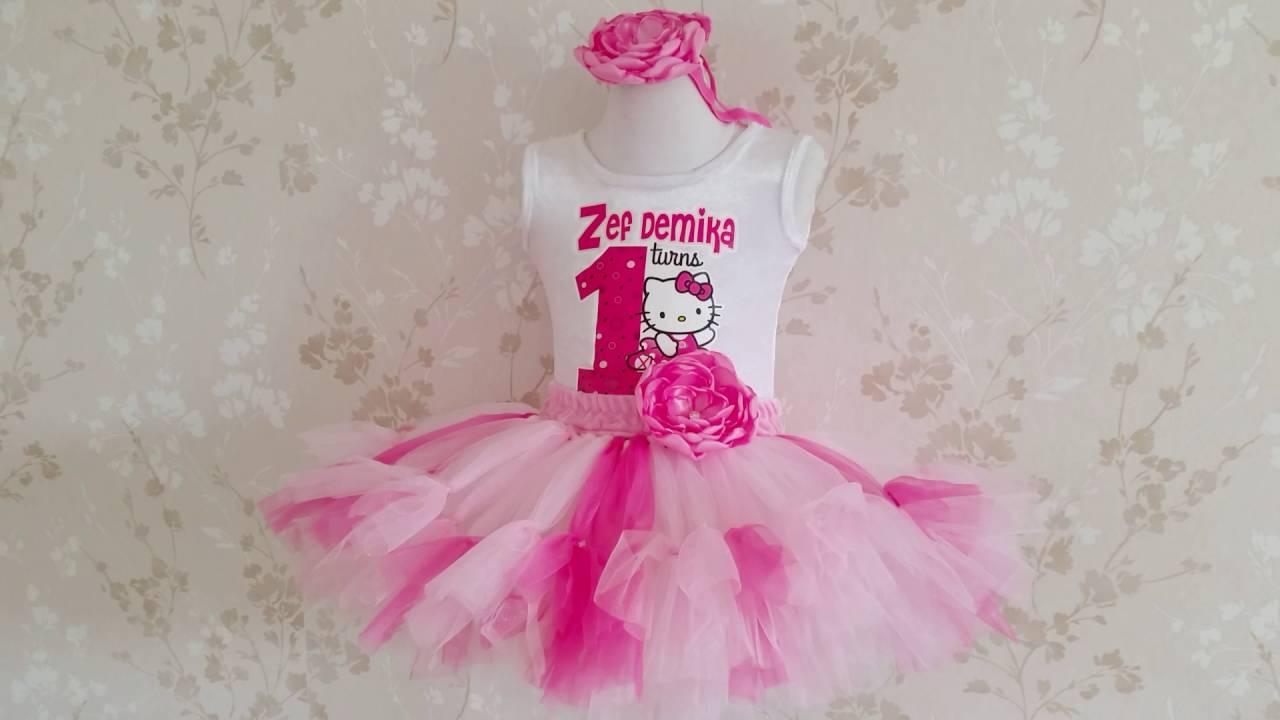 2a1b349e1 Hello Kitty Fluffy Tutu Birthday Outfit - YouTube