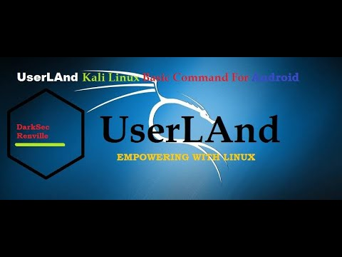 Userland Kali Linux Basic For Android Tutorial