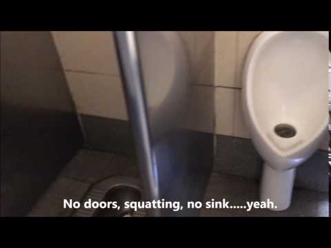 Hutong Beijing China No Doors Squatting Public Toilets