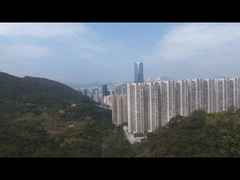 Flying over Quarry Bay Tree Walk, Hong Kong - Parrot Bebop