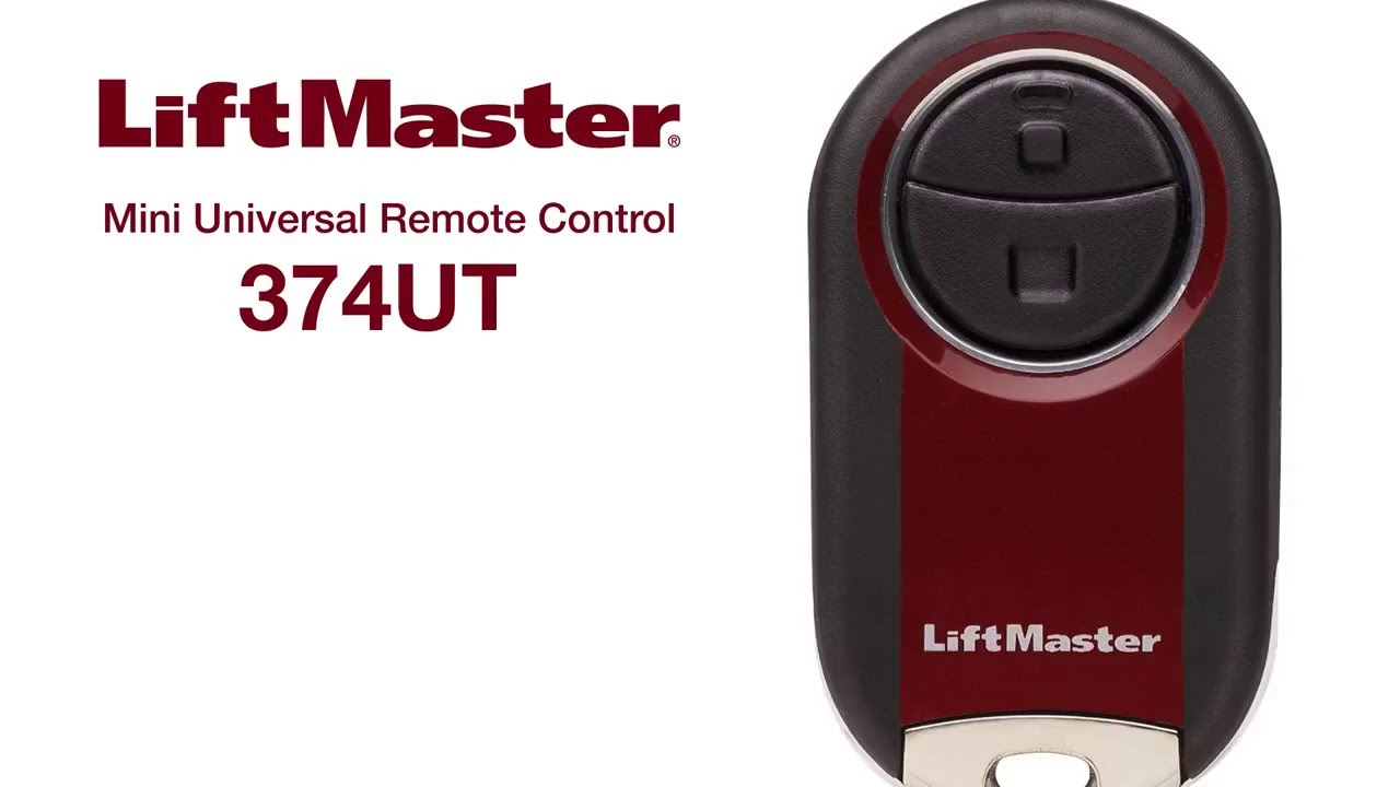 Liftmaster How To Program Mini Universal Remote Model 374ut Youtube