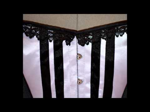 Vintage and historical authentic steel-boned corsets