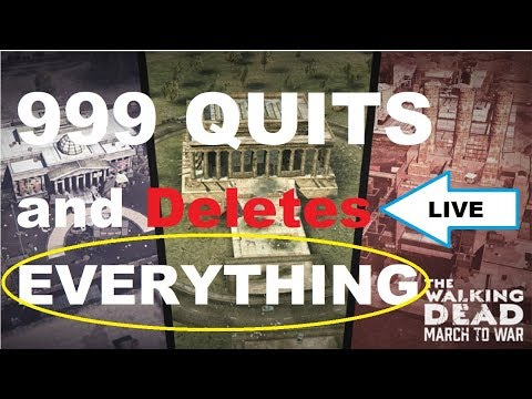 The Walking Dead - March to War Game - I QUIT and DELETE EVERYTHING!!!