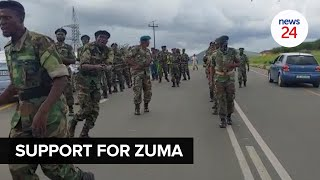 WATCH   'If they want us to fight, we'll fight' - Nkandla residents, family and MKMVA defend Zuma