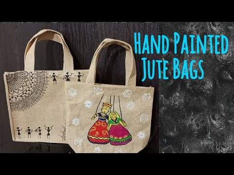 Jute Bag Painting L Fabric
