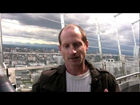 Atop Seattle's Space Needle with author Jim Lynch
